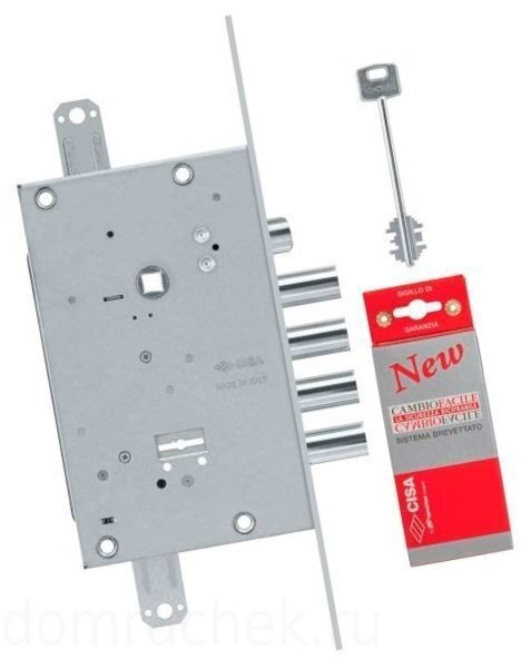 Замок врезной двух системный cisa new cambio facile 5796648 тех упаковка, ключ 44 мм